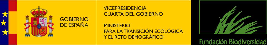 Logos Ministerio y Fundación Biodiversidad
