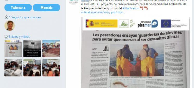 Noticia del proyecto ASAPEMM en tweeter