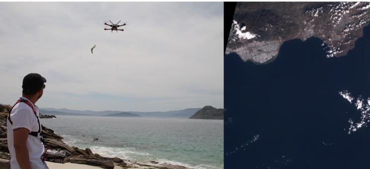 De los datos tomados en la playa a la imagen satélite.