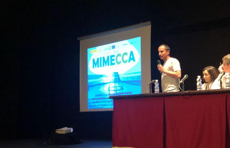 Exposición proyecto MIMECCA en Jornadas Acuicultura Cartaya