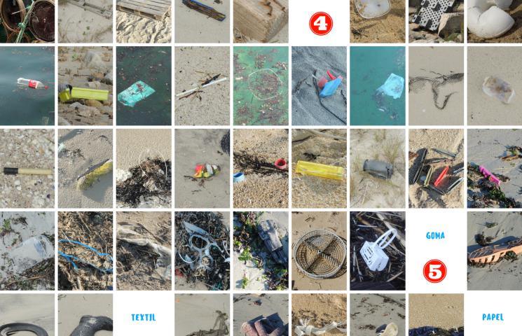 Tipos de basuras marinas