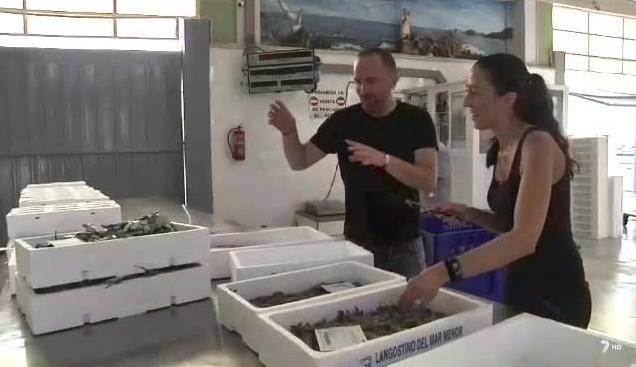 Reportaje de Diario del Campo, de La 7 Región de Murcia sobre la pesca del langostino. San Pedro del Pinatar