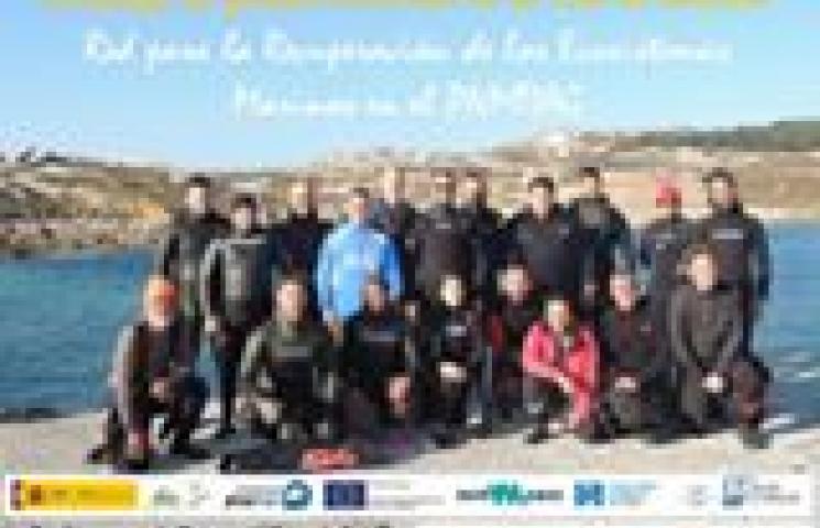 Jornada de limpieza de basuras marinas en los fondos en el Parque Nacional Marítimo Terrestre das Illas Atlánticas de Galicia
